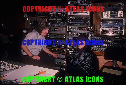 MICHAEL WAGENER AND DON DOKKEN, RECORDING STUDIO, 1985, NEIL ZLOZOWER