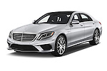 2014 Mercedes Benz S-Class S63 AMG 4 Door Sedan Angular Front stock photos of front three quarter view