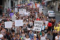 SAO PAULO, SP, 03.05.2014 -Caminhada das Lesbicas, Bissexuais, Feministas e  acontece na tarde deste sabado (03) na Rua Augusta em São Paulo. (Foto: Amauri Nehn / Brazil Proto Press).
