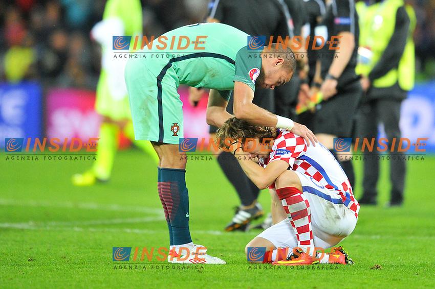 03 PEPE (por) - 10 Luka Modric (cro) <br /> Lens 256-06-2016 Stade Bollaert-Delelis Football Euro2016 Croatia - Portugal / Croazia - Portogallo of 16. Foto Philippe Lecoeur / Panoramic / Insidefoto