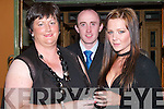 ENJOY: Doreen Brosnan, James and Tracy Stack enjoyed the Adi Roche Chernobyl Childrens Project Mid-Summer Ball at The Meadowlands Hotel, Tralee, on Saturday evening..
