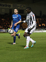 Esmael Goncalves controls before scoring in the St Mirren v Inverness Caledonian Thistle Clydesdale Bank Scottish Premier League match played at St Mirren Park, Paisley on 30.1.13.