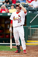 Charles Cutler (37) of the Springfield Cardinals prepares to bat during a game against the Arkansas Travelers on May 10, 2011 at Hammons Field in Springfield, Missouri.  Photo By David Welker/Four Seam Images.