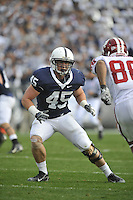 14 November 2009:  Penn State LB Sean Lee (45)..The Penn State Nittany Lions defeated the Indiana Hoosiers 31-20 at Beaver Stadium in State College, PA..