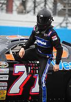 Apr 16, 2009; Avondale, AZ, USA; NASCAR Camping World Series West driver Daryl Harr prior to the Jimmie Johnson Foundation 150 at Phoenix International Raceway. Mandatory Credit: Mark J. Rebilas-