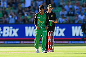 10th February 2019, Melbourne Cricket Ground, Melbourne, Australia; Australian Big Bash Cricket, Melbourne Stars versus Sydney Sixers;  Sandeep Lamichhane of the Melbourne Stars celebrates the final wicket of the game