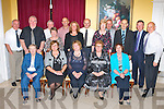 The Dublin branch of the Kerry Association who held their 60th anniversary in the Dromhall Hotel on Friday night front row l-r: Mary Kelly, Maura Hughes Chairperson, Mary Donoghue, Maria Walsh, Brendan Gormally. Back row: Eamon McGlinchey, Tim Meehan, Pattie McDonagh, Carmel McDonagh, Eugene O'Sullivan, Mary Curtin, Brendan O'Sullivan, Delia O'Sullivan, Michael O'Sullivan, Michael Gormally, Crohan O'Shea and John F O'Sullivan ..