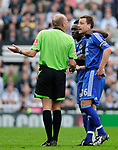 Chelsea's John Terry protests to referee Steve Bennett over a foul on team mate Ricardo Carvalho. during the Premier League match at the St James' Park Stadium, Newcastle. Picture date 5th May 2008. Picture credit should read: Richard Lee/Sportimage