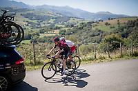 Salvatore Puccio (ITA/Ineos) & Luis Ángel Maté (ESP/Cofidis) catching (back onto) the peloton <br /> <br /> Stage 11: Saint-Palais to Urdax-Dantxarinea (180km in The Basque Country > FRA & ESP) <br /> La Vuelta 2019<br /> <br /> ©kramon