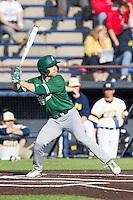 Eastern Michigan Hurons outfielder Drake Lubin (48) at bat against the Michigan Wolverines on May 3, 2016 at Ray Fisher Stadium in Ann Arbor, Michigan. Michigan defeated Eastern Michigan 12-4. (Andrew Woolley/Four Seam Images)