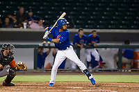 AZL Cubs designated hitter Yovanny Cuevas (61) at bat against the AZL Giants on September 6, 2017 at Sloan Park in Mesa, Arizona. AZL Giants defeated the AZL Cubs 6-5 to even up the Arizona League Championship Series at one game a piece. (Zachary Lucy/Four Seam Images)