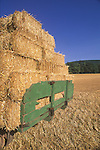 2002. Amish wagon loaded with straw bales. Nippenose Valley, PA.