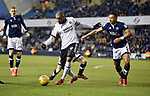 Leon Clarke of Sheffield United is challenged by James Meredith of Millwall during the championship match at The Den Stadium, Millwall. Picture date 2nd December 2017. Picture credit should read: Robin Parker/Sportimage