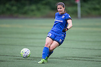 Seattle, Washington - Saturday May 14, 2016: Seattle Reign FC defender Kendall Fletcher (13) during the first half of a match at Memorial Stadium on Saturday May 14, 2016 in Seattle, Washington. The match ended in a 1-1 draw.
