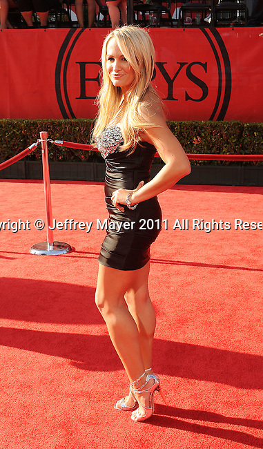 LOS ANGELES, CA - JULY 13: Jen Brown arrives at the 2011 ESPY Awards at Nokia Theatre L.A. Live on July 13, 2011 in Los Angeles, California.