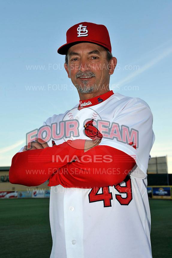 Mar 01, 2010; Jupiter, FL, USA; St. Louis Cardinals coach Joe Pettini (49) during  photoday at Roger Dean Stadium. Mandatory Credit: Tomasso De Rosa/ Four Seam Images