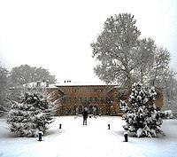 Parco della Villa Litta sotto la neve a gennaio 2009<br /> <br /> A public garden under the snow in Milan