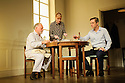 THE FATHER, written by Florian Zeller, in a new translation by Christopher Hampton, opens at Wyndham's Theatre. Directed by James Macdonald, with lighting design by Guy Hoare, and set and costume design by Miriam Buether. Picture shows: Kenneth Cranham (Andre). Claire Skinner (Anne), Nicholas Gleaves (Pierre).