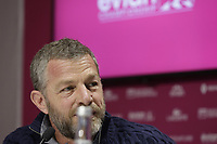 Vice Chairman Jacques Bungert at the opening press conference during Wednesday's Pro-Am Day of The Evian Championship 2017, the final Major of the ladies season, held at Evian Resort Golf Club, Evian-les-Bains, France. 13th September 2017.<br /> Picture: Eoin Clarke | Golffile<br /> <br /> <br /> All photos usage must carry mandatory copyright credit (&copy; Golffile | Eoin Clarke)