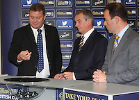 Derek Johnstone draws a home team. Scottish FA President Campbell Ogilvie joined by former Rangers and Scotland striker Derek Johnstone and Kristof Fahy, Chief Marketing Officer at William Hill, in conducting the draw for Round 3 of the William Hill Scottish Cup which took place at Hamilton Park Racecourse on 1.10.12