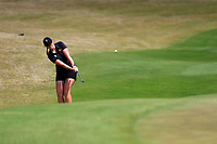 Olivia Mehaffey (NIR) on the 18th during the second round of the Augusta National Womans Amateur 2019, Champions Retreat, Augusta, Georgia, USA. 04/04/2019.<br /> Picture Fran Caffrey / Golffile.ie<br /> <br /> All photo usage must carry mandatory copyright credit (&copy; Golffile | Fran Caffrey)
