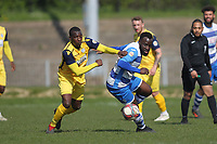during Ilford vs Hullbridge Sports, Essex Senior League Football at Cricklefields Stadium on 13th April 2019