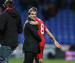 Brendan Rodgers manager of Liverpool celebrates with Steven Gerrard of Liverpool - FA Cup Fourth Round replay - Bolton Wanderers vs Liverpool - Macron Stadium  - Bolton - England - 4th February 2015 - Picture Simon Bellis/Sportimage