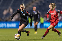 Bridgeview, IL - Saturday March 31, 2018: Summer Green during a regular season National Women's Soccer League (NWSL) match between the Chicago Red Stars and the Portland Thorns FC at Toyota Park.