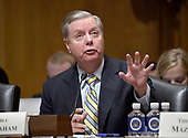 "United States Senator Lindsey Graham (Republican of South Carolina) testifies before the US Senate Committee on Finance ""Hearing to Consider the Graham-Cassidy-Heller-Johnson Proposal"" on the repeal and replace of the Affordable Care Act (ACA) also known as ""ObamaCare"" in Washington, DC on Monday, September 25, 2017.  Graham is the lead author of the bill.<br /> Credit: Ron Sachs / CNP"