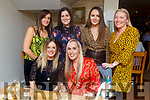 Una Kerins from Ballymac celebrating her birthday in Bella Bia on Friday night.<br /> Seated Olivia Fleming and Una Kerins.<br /> Back l-r, Naomi O'Sullivan, Niamh McGuire, Emma Hayes and Sian Callaghan.