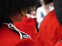 A member of the Royal 22nd Regiment during the Canada Day ceremony in Quebec City