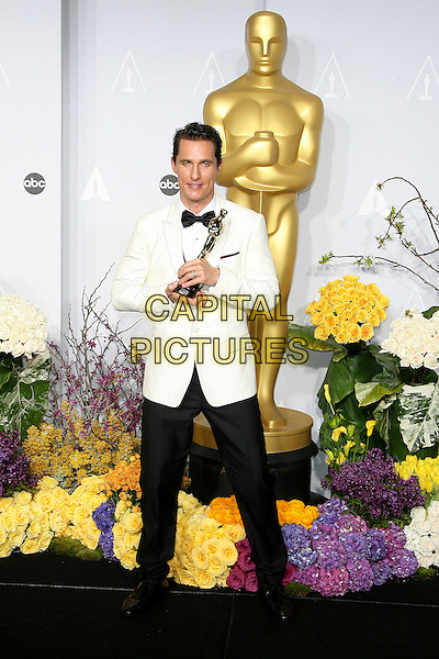 02 March 2014 - Hollywood, California - Matthew McConaughey. 86th Annual Academy Awards held at the Dolby Theatre at Hollywood &amp; Highland Center. <br /> CAP/ADM<br /> &copy;AdMedia/Capital Pictures