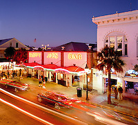 USA, Florida, Key West: Sloppy Joe's Bar along Duvall Street at Night | USA, Florida, Key West, Duval Street: Sloppy Joe's Bar