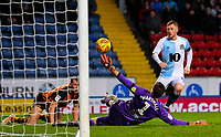 Blackburn Rovers' Harrison Reed chips Hull City's David Marshall to make the score 3-0<br /> <br /> Photographer Alex Dodd/CameraSport<br /> <br /> The EFL Sky Bet Championship - Blackburn Rovers v Hull City - Saturday 26th January 2019 - Ewood Park - Blackburn<br /> <br /> World Copyright © 2019 CameraSport. All rights reserved. 43 Linden Ave. Countesthorpe. Leicester. England. LE8 5PG - Tel: +44 (0) 116 277 4147 - admin@camerasport.com - www.camerasport.com