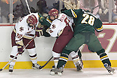 Dan Bertram, Nathan Gerbe, Vermont ?, Matt Syroczynski - The Boston College Eagles completed a shutout sweep of the University of Vermont Catamounts on Saturday, January 21, 2006 by defeating Vermont 3-0 at Conte Forum in Chestnut Hill, MA.