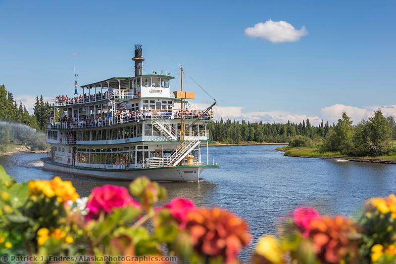 Historic Riverboat Discovery takes tourist down the Chena River in Interior Alaska's golden heart city of Fairbanks, Alaska