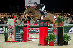 Gerco Schroder of Netherlands riding Glock's Prince De Vaux in action during the Longines Speed Challenge competition as part of the Longines Hong Kong Masters on 13 February 2015, at the Asia World Expo, outskirts Hong Kong, China. Photo by Li Man Yuen / Power Sport Images