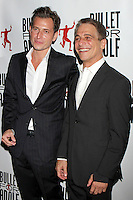 "Peter Cincotti and Tony Danza attending the opening night performance of ""Bullet for Adolf"" at New World Stages in New York, 08.08.2012...Credit: Rolf Mueller/face to face /MediaPunch Inc. ***FOR USA ONLY*** ***Online Only for USA Weekly Print Magazines*** /Nortephoto.com<br />