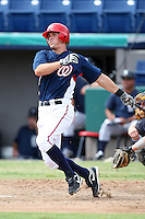 October 5, 2009:  Tyler Moore of the Washington Nationals organization during an Instructional League game at Space Coast Stadium in Viera, FL.  Moore was selected in the 16th round of the 2008 MLB Draft.  Photo by:  Mike Janes/Four Seam Images