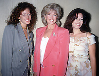 Connie Stevens with daughters Oley Fisher (l) and Tricia Leigh Fisher (r)<br /> 1992<br /> Photo By Michael Ferguson/CelebrityArchaeology.com
