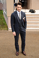 David Gandy arrives for the Burberry Prosum menswear AW14 as part of London Collections Men, Kensington Gardens, London.08/01/2014 Picture by: Steve Vas / Featureflash