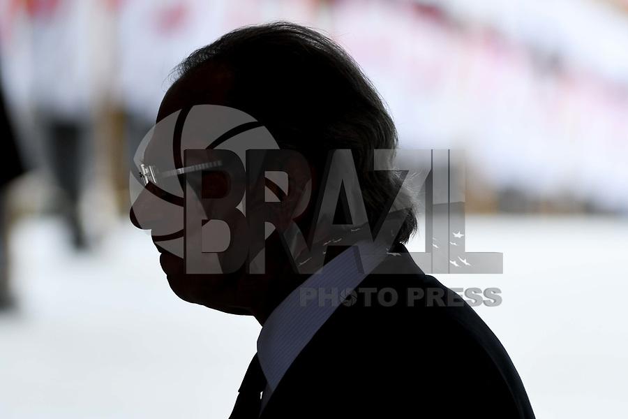 BRASÍLIA, DF, 01.01.2019 – POSSE-BOLSONARO – O novo ministro da Economia Paulo Guedes  durante a Posse de Jair Bolsonaro como Presidente do Brasil, na tarde desta terça-feira, 01, no Palácio do Planalto em Brasília. (Foto: Ricardo Botelho/Brazil Photo Press)