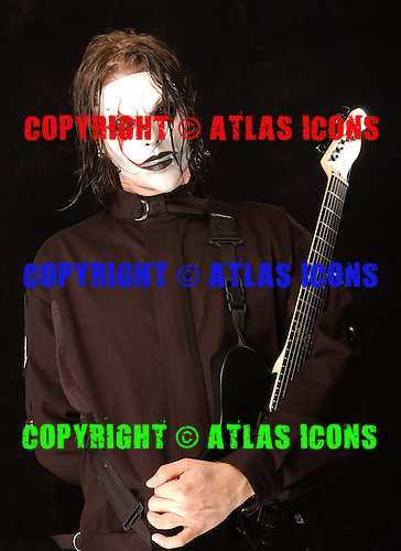 (#4) Jim Root – guitars , Slipknot Studio Portrait Session .In Desmoines Iowa in 2001.Photo Credit: Eddie Malluk/Atlas Icons.com