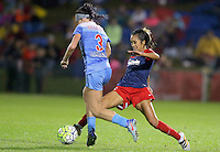 Boyds, MD - Friday Sept. 30, 2016: Arin Gilliland, Caprice Dydasco during a National Women's Soccer League (NWSL) semi-finals match between the Washington Spirit and the Chicago Red Stars at Maureen Hendricks Field, Maryland SoccerPlex. The Washington Spirit won 2-1 in overtime.