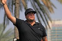 Joel Sjoholm (SWE) tees off on the 9th tee during Saturday's  Round 3 of the 2012 Omega Dubai Desert Classic at Emirates Golf Club Majlis Course, Dubai, United Arab Emirates, 11th February 2012(Photo Eoin Clarke/www.golffile.ie)