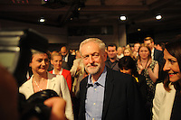 Labour Party Leadership Conference<br /> QE11 Centre, Westminster, London.Westminster<br /> Conference called to announce the results of the elections for position of Labour Party leader and deputy leader.<br /> <br /> Jeremy Corbyn enters the hall at the start of the conference.