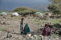 DJIBOUTI Tadjourah, Afar village / DSCHIBUTI Tadjourah, Afar Dorf