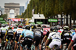 The peloton on the Champs-Elysees during Stage 21 of the 2018 Tour de France running 116km from Houilles to Paris Champs-Elysees, France. 29th July 2018. <br /> Picture: ASO/Pauline Ballet | Cyclefile<br /> All photos usage must carry mandatory copyright credit (&copy; Cyclefile | ASO/Pauline Ballet)