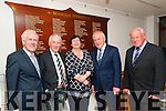 Seanchai Patrons Board: Pictured at the unveiling of the Seanchai Centre's Patrons board at the centre in Listowel on Saturday evening <br /> last were Labhras O Murchu, CCE, Eamonn O Murchu, Cara Trant, Manager, Minister Jimmy Deenihan &amp; David Browne, Chairman, Seanchai Centre.