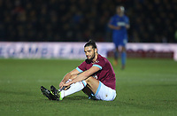 West Ham United's Andy Carroll<br /> <br /> Photographer Rob Newell/CameraSport<br /> <br /> Emirates FA Cup Fourth Round - AFC Wimbledon v West Ham United - Saturday 26th January 2019 - Kingsmeadow Stadium - London<br />  <br /> World Copyright © 2019 CameraSport. All rights reserved. 43 Linden Ave. Countesthorpe. Leicester. England. LE8 5PG - Tel: +44 (0) 116 277 4147 - admin@camerasport.com - www.camerasport.com
